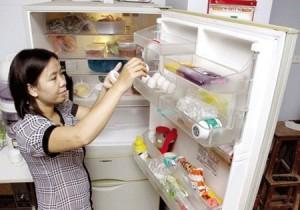 Trứng để trong tủ lạnh